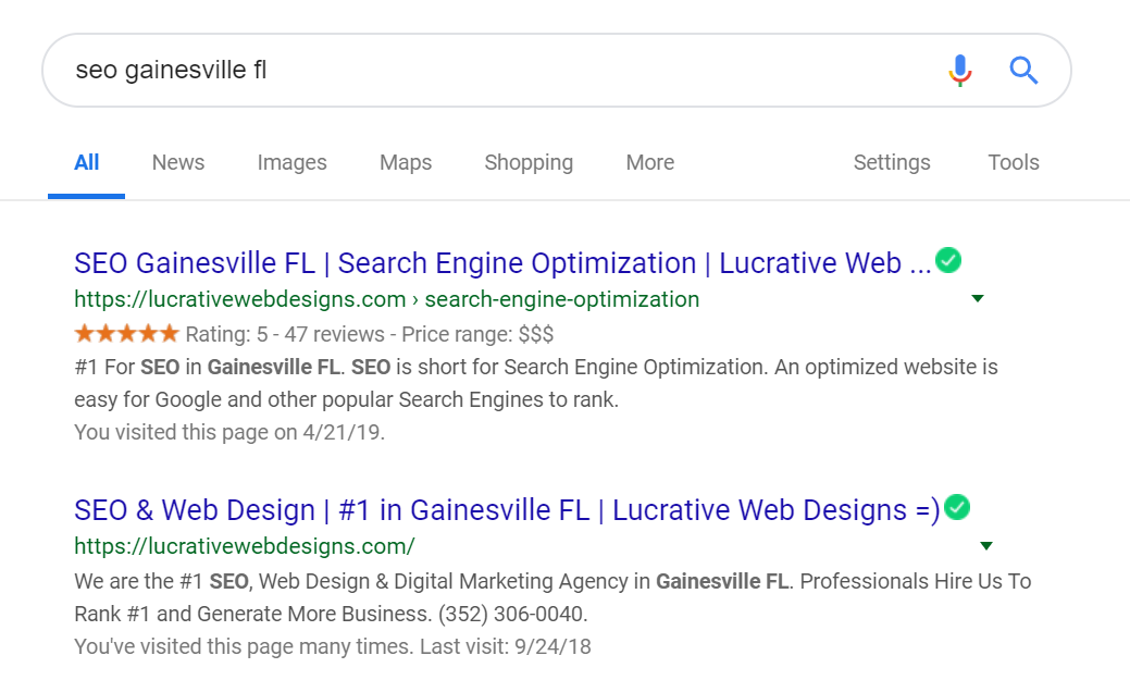 SEO Gainesville FL Web Design