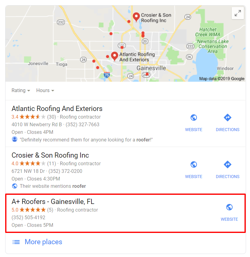 SEO for Roofers in Gainesville FL